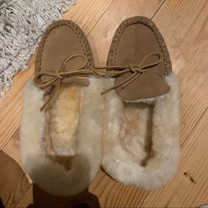 Cute Moccasins worn around the house